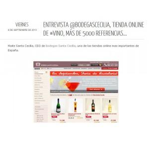 Entrevista Mayte Santa Cecilia - El Vino más barato Blog (Sept' 2013)