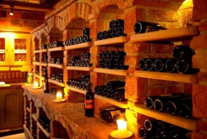 Wine Cellar Room with Brick Arches