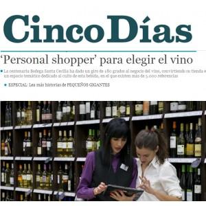 'Personal shopper' para elegir el vino - Cinco Días (Julio 2014)