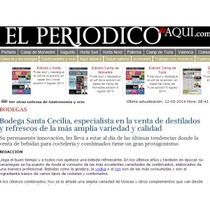Bodega Santa Cecilia, especialista en la venta de destilados y refrescos de la más amplia variedad y calidad (Mayo 2014)