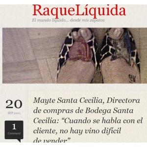 Entrevista Mayte SantaCecilia - Blog 'raqueliquida' (Septiembre 2011)