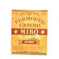 VERMOUTH MIRO CASERO 5L. 15º